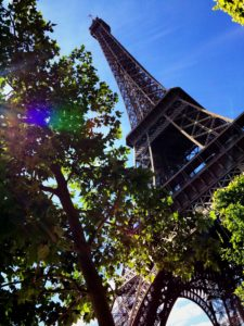 Eiffel Tower Paris from a different perspective